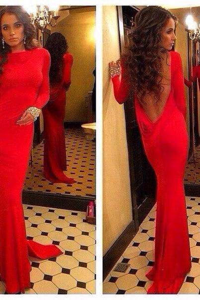 Prom Dresses Sexy Cheap Mermaid Red Backless Prom Dress Formal Dress Evening Dress Party Prom Gowns