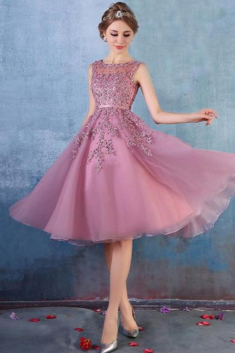 Light Purple Short Prom Dresses 2016 With Lace Applique Hand Beading Off The Shoulder Knee Length Prom Party Dress Vestidos