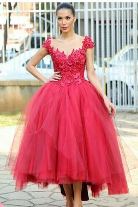Elegant Ball Gown Evening Dresses Sexy Sheer Straps Back Lace Party Prom Gowns Custom Made Size Color