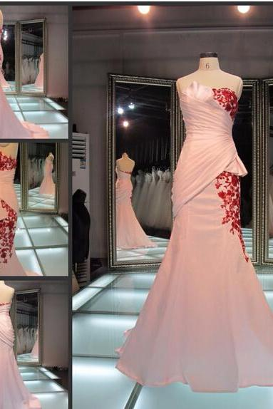 2016 Real Image Prom Dress Elegant Gorgeous Mermaid Sweetheart Ruched Appliques Satin Long Formal Evening Party Gowns Vestidos