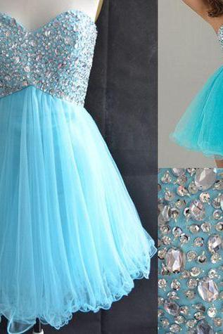 Charming Homecaming Dress, Sweetheart Homecaming Dress, Tulle Homcaming Dress, Short Prom Dress, Cute Dress