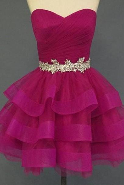 Charming Homecoming Dress, Organza Homecoming Dress, Sweetheart Homecoming Dress, Short Noble Homecoming Dress