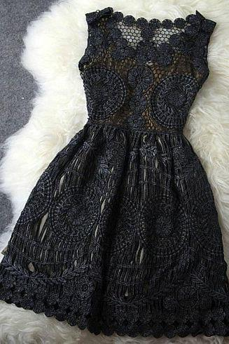 Vintage Gold Thread Hollow Out Homecoming Dress,Lace Short Prom Dress