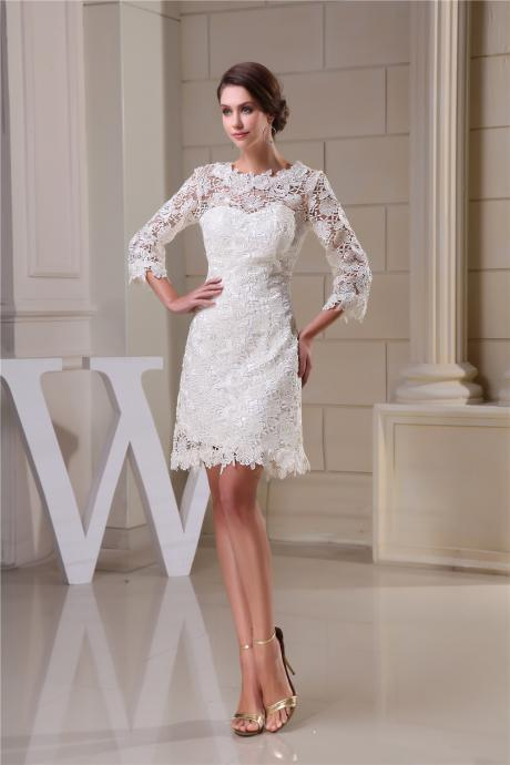Lace Homecoming Dresses,Elegant Evening Dresses,Flowers Cocktail Dresses, Pure 2016 Popular Homecoming Dresses