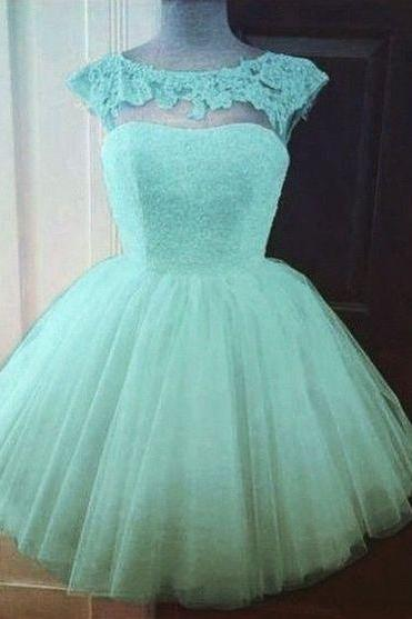 New Style Charming Homecoming Dress,Ball Gown Prom Dress,Tulle Homecoming Dress, Lace Short Prom Dress