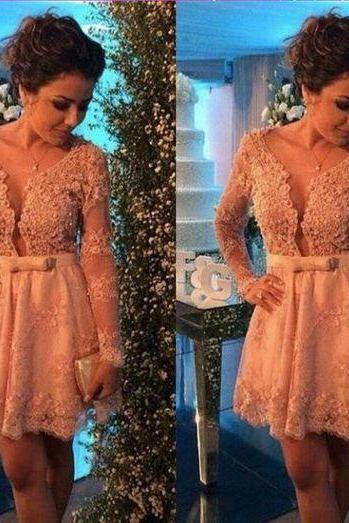 Homecoming Dresses,Lace Homecoming Dress,Long Sleeves Homecoming Dresses,Sexy Homecoming Dress,Juniors Homecoming Dresses,Cheap Homecoming Dresses