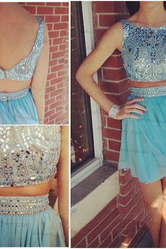 Two Piece Homecoming Dress,2 Pieces Homecoming Dresses