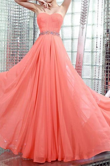 2017 Custom Hot sale summer beach Sweetheart Beading Chiffon Beaded Custom Desgin White Rose Gold Sparkle Dress Party gowns Prom Dresses