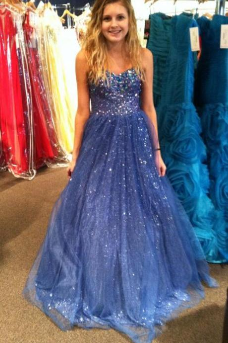 2017 Custom Made Charming Prom Dress,Organza Prom Dress,A-Line Prom Dress,Sweetheart Prom Dress,Beading Prom Dress