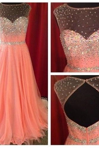 2017 Custom Made High Quality Prom Dress,Charming Prom Dress,Long Prom Dress,Chiffon Prom Dress,A-Line Prom Dress