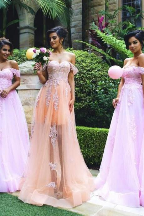 2017 Custom Made High Quality Wedding Dress,Chiffon Bridal Dress,Off The Shoulder Wedding Dress,See Through Bridal Dress,