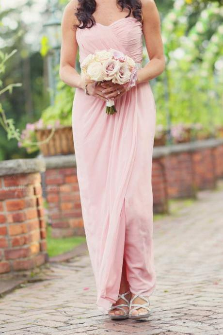 Brief Bridesmaid Dress,Chiffon Bridesmaid Dress,Long Bridesmaid Dress