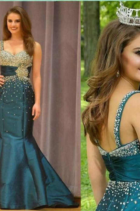 Pageant Prom Dress,Straps Prom Dress,Trumpet Prom Dress,Beaded Prom Dress,Celebrity Dress,Sequin Prom Dress,Beaded Prom Dress,Women Prom Dress,Long Party Dress