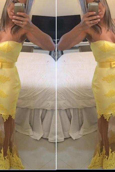 Sexy Prom Dress,Celebrity Dresses,Sheer Prom Dress,Sweetheart Prom Dress,Yellow Prom Dress,Lace Prom Dresses,Fashion Prom Dress,Mermaid Prom Dress,Women Prom Gown