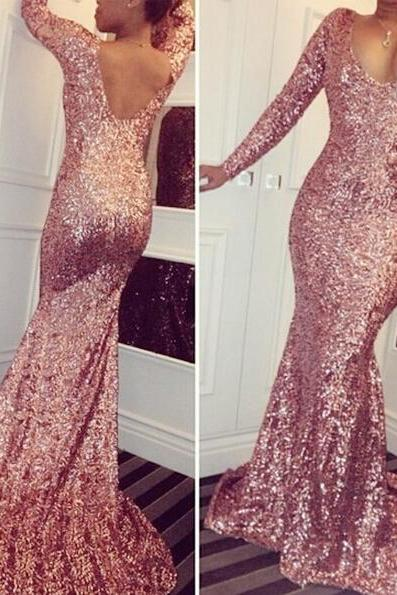 Prom Dress,Prom Dresses,Mermaid Prom Dresses,Mermaid Formal Gowns, Prom Dresses Long,Rose Sequins Prom Dress,Sexy Prom Dresses,Prom Dresses 2017,Sequins Prom Dresses,Long Mermaid Formal Gowns,Prom Dresses with Long Sleeves,Sequins Party Gowns