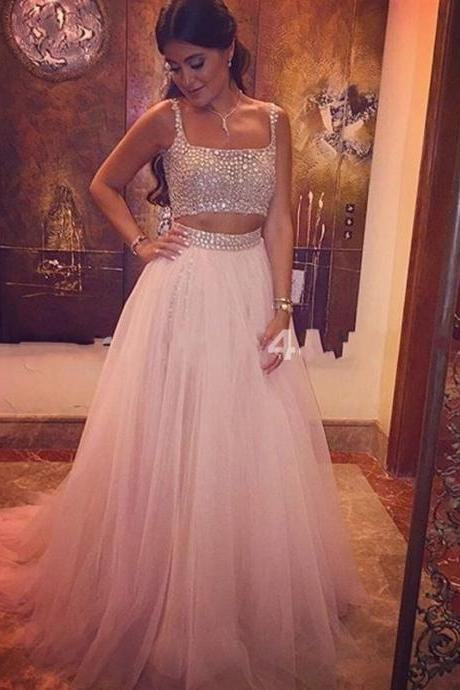 Charming Prom Dress,Beading Prom Dresses,A-Line Prom Dress,Tulle Evening Dress,Wedding Guest Prom Gowns, Formal Occasion Dresses,Formal Dress