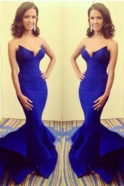 Prom Gown,Royal blue Prom Dresses,Evening Gowns,Mermaid Formal Dresses,Royal blue Prom Dresses, Prom Dresses,Wedding Guest Prom Gowns, Formal Occasion Dresses,Formal Dress