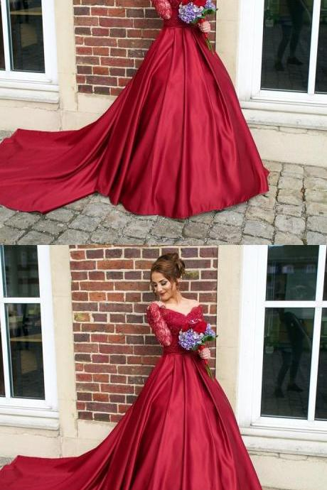 Long Sleeve Prom Dress,Long Prom Dresses,Charming Prom Dresses,Evening Dress, Prom Gowns, Formal Women Dress,prom dress