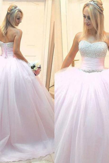 Ball Gown Sweetheart Beading Prom Dress,Long Prom Dresses,Prom Dresses,Evening Dress, Prom Gowns, Formal Women Dress,prom dress