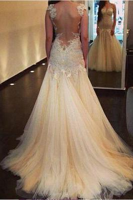 Gorgeous wedding dress,mermaid prom dress,formal dress,lace wedding dress,dresses for prom&wedding