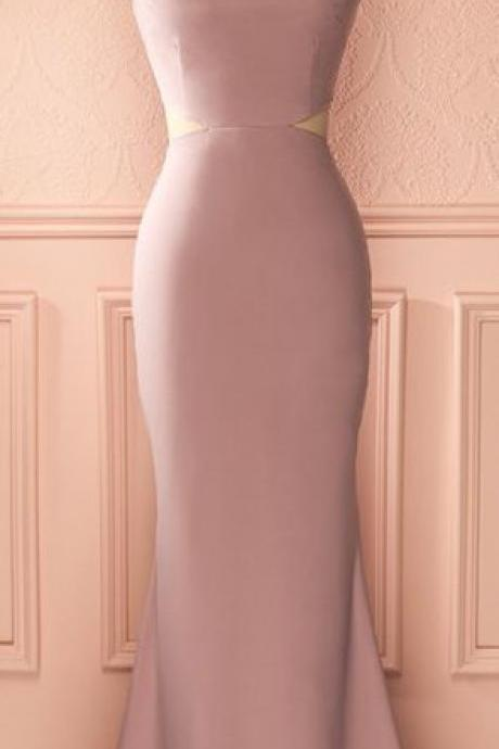 Dusty Rose Prom DressMermaid DressMidriff DressFashion Dress