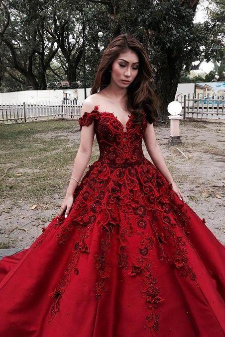 Red Prom Dresses,2017 Prom Dress,Prom Dress,Off The Shoulder Prom Dresses,Formal Gown,Sexy Evening Gowns,Red Party Dress,Prom Gown For Teens