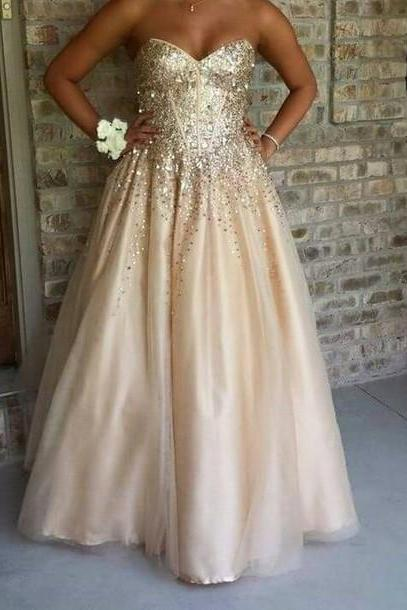 Real Made Beading Prom Dresses, Floor-Length Evening Dresses,Prom Dresses