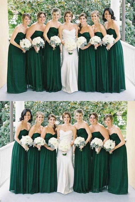Sleeveless Backless Bridesmaid Dress,Long Bridesmaid Dresses