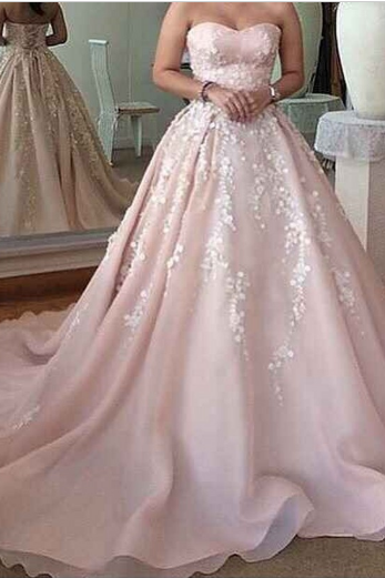 Sweetheart Ball Gown Prom Dress,Long Prom Dresses,Charming Prom Dresses,Evening Dress Prom Gowns, Formal Women Dress,prom dress