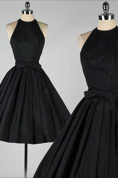 2017 Custom Made Black Prom Dress,Sexy Halter Evening Dress,Mini Simple Evening Dress,Sleeveless Party Dress