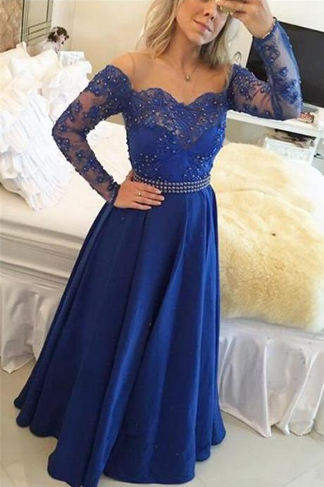 Prom Dress, Sexy Evening Dress,Long Sleeve Beaded Prom Dress,Long Evening Dress,Floor Length Formal Dress,High Quality Graduation Dresses,Wedding Guest Prom Gowns, Formal Occasion Dresses,Formal Dress