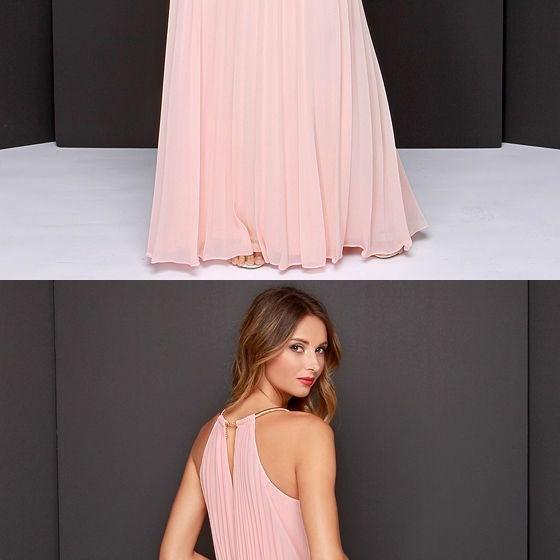 Charming Prom Dress,Pink Prom Dress,Chiffon Prom Dress,Long Evening Dress,Formal Dress