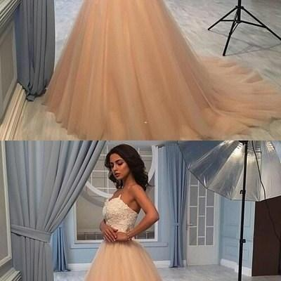 Stylish lace and tulle off shoulder long prom dress, lace evening dress