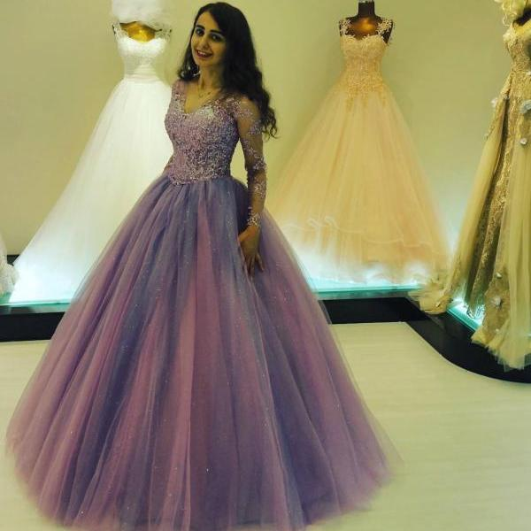 Long Sleeve Prom Dress,Long Prom Dresses,Prom Dresses,Evening Dress, Prom Gowns, Formal Women Dress
