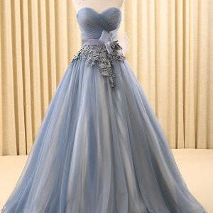 Strapless Gray Home Coming Ball Gown Dress,PL0518