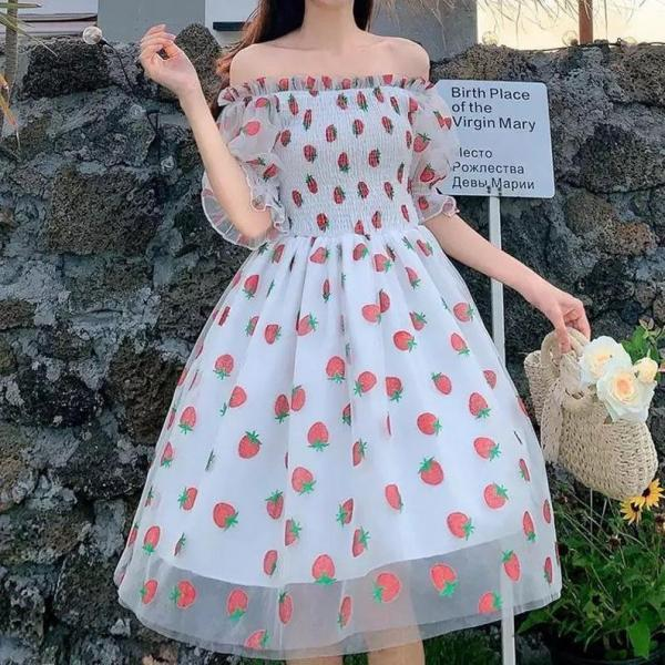 Cute Summer/Spring Strawberry Dress,PL3206