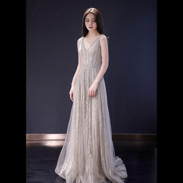 Noble and luxurious evening dress, new spring fashion, elegant, sexy, heavy dress with diamond,Haute Couture,Custom Made,PL4069