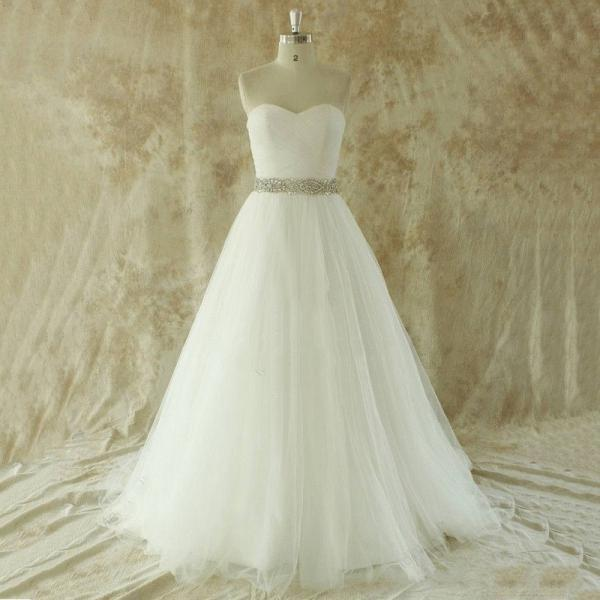 Simple 2016 Vintage Wedding Dress Plus Size Sweetheart Ivory Wedding Gown With Court Train Beading Vestido Novia Robe Mariage