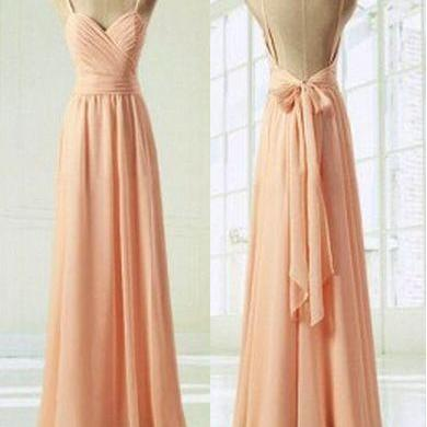 Charming Prom Dress,Sweetheart Prom Dress,A-Line Prom Dress,Pink Prom Dress,Chiffon Prom Dress, With Straps Long Modest Gowns Dresses