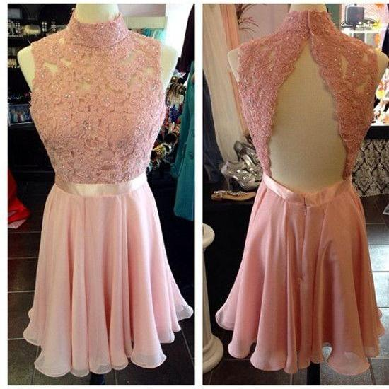 Homecoming Dresses,High Neck Homecoming Dresses,Lace Homecoming Dresses,Open Back Homecoming Dresses,Cute Homecoming Dresses,Cheap Homecoming Dresses,Juniors Homecoming Dresses