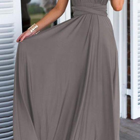 Prom Gown,Pretty Prom Dresses,Gray Prom Gown,Simple Prom Gown,Grey Bridesmaid Dress,Cheap Evening Dresses,Fall Prom Gowns,2016 Beautiful Bridesmaid Gowns