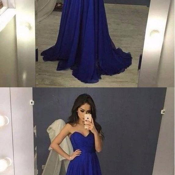 Prom Gown,Royal Blue Evening Gowns,Party Dresses, Evening Gowns,Sexy Formal Dress For Teens