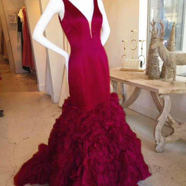 burgundy prom dress,mermaid prom dress,prom gowns 2017,royal blue evening dresses,green formal dress