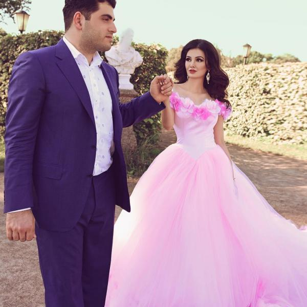 rose flower wedding dresses,pink wedding dress,ball gown wedding dresses,fairytale wedding dresses,quinceanera dresses